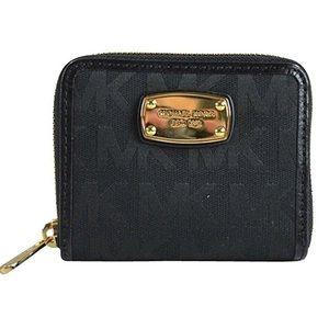 Michael Kors Black Mini Bifold Wallet Coin Pouch
